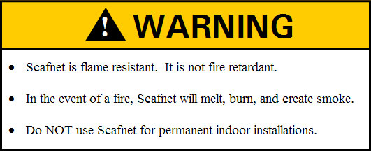 Scafnet® Warning Sign