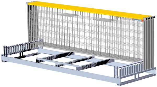 EdgeGuard® - 20 Rail Steel Pallet