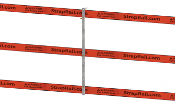 "45"" StrapRail® Anti-Deflection Post Guide (Free Standing)"