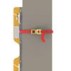 "45"" StrapRail® Guardrail Plastic Column Post Guide (Not Anchored) - Side View"