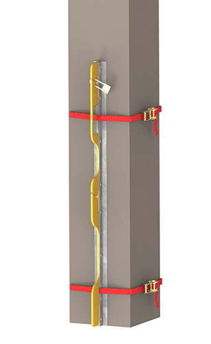 Superchute   Superchute StrapRail Fall Protection Guardrail System