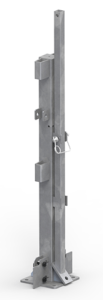 "45"" StrapRail® Guardrail Inline Anchor Post (Bolt Down) - Stored"