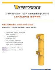 Construction Material Handling Chutes